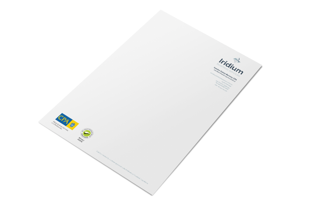 Iridium Business Services Stationery